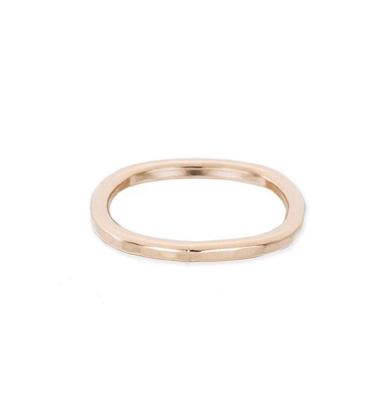 Thick Individual Round Yellow Gold Ring