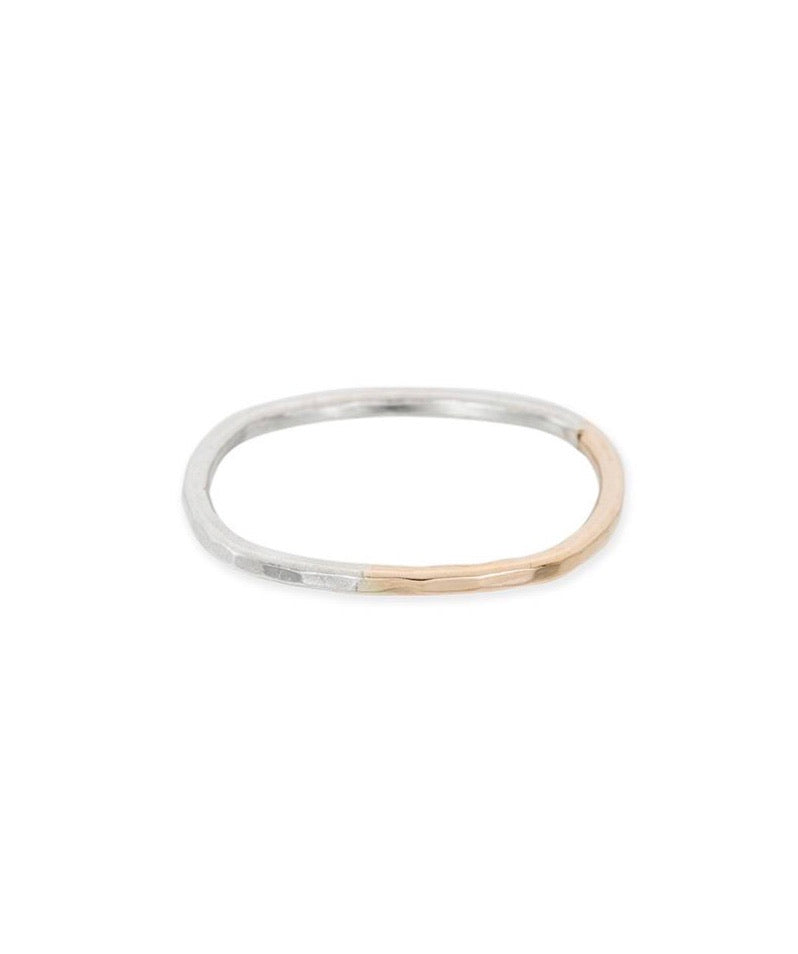 Thin Individual Round Gradient Ring