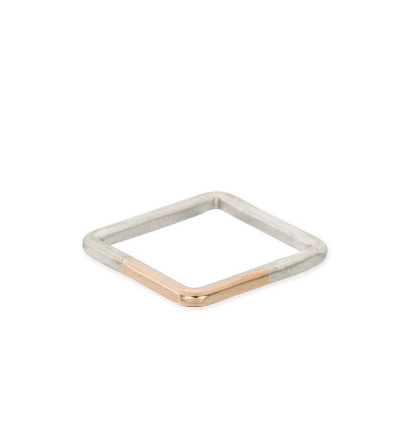 Thick Individual Square Gradient Ring