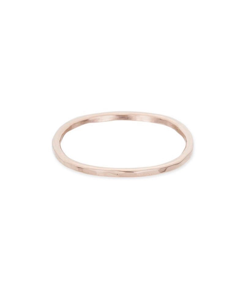 Thin Individual Round Rose Gold Ring
