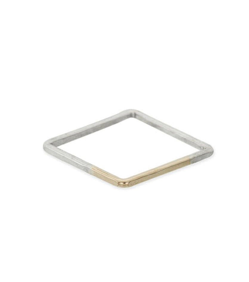 Thin Individual Square Gradient Ring