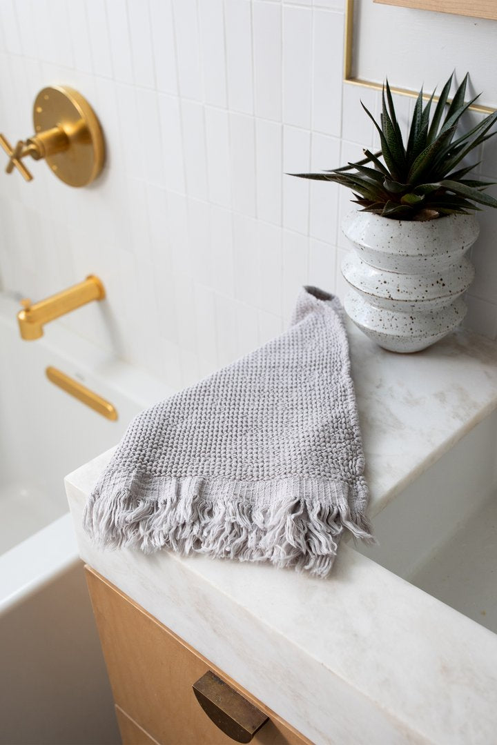 Ella Hand Towel in Stone
