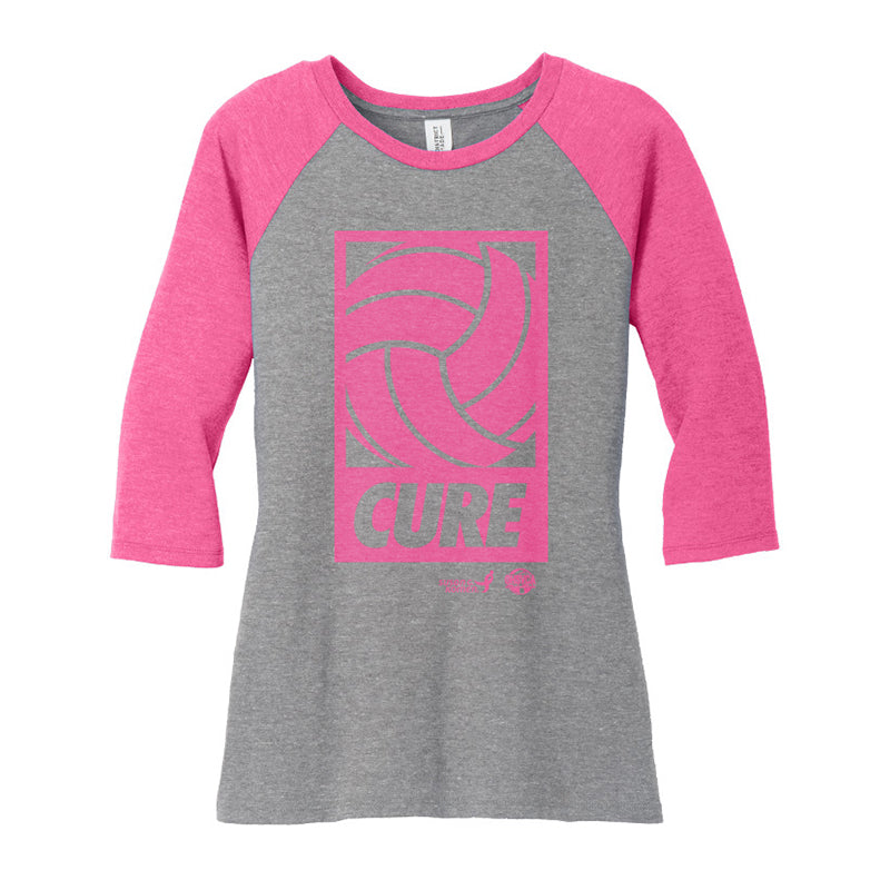 Ladies Perfect 3/4 Sleeve Raglan Tee