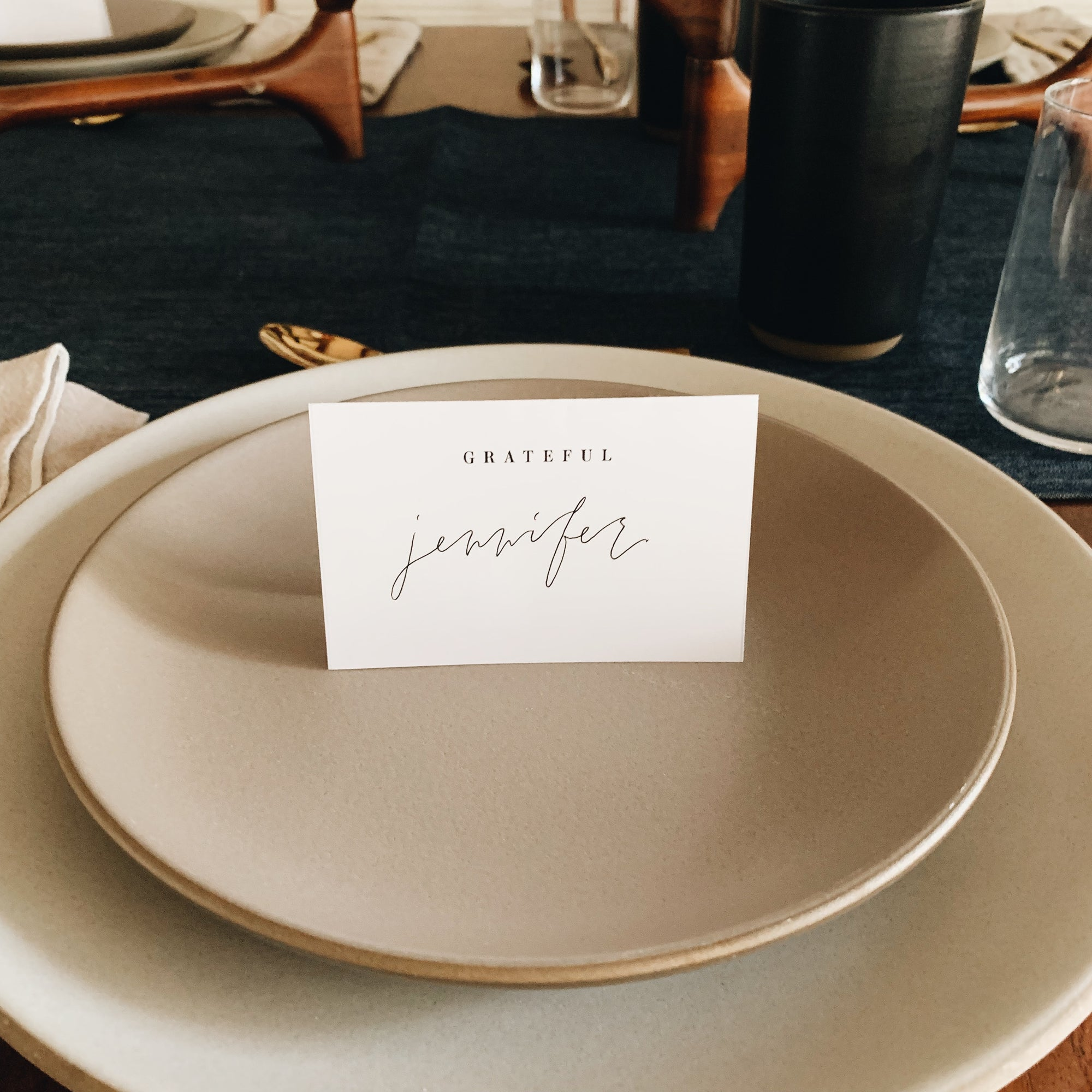 Free Downloadable Place Cards + Food Tents