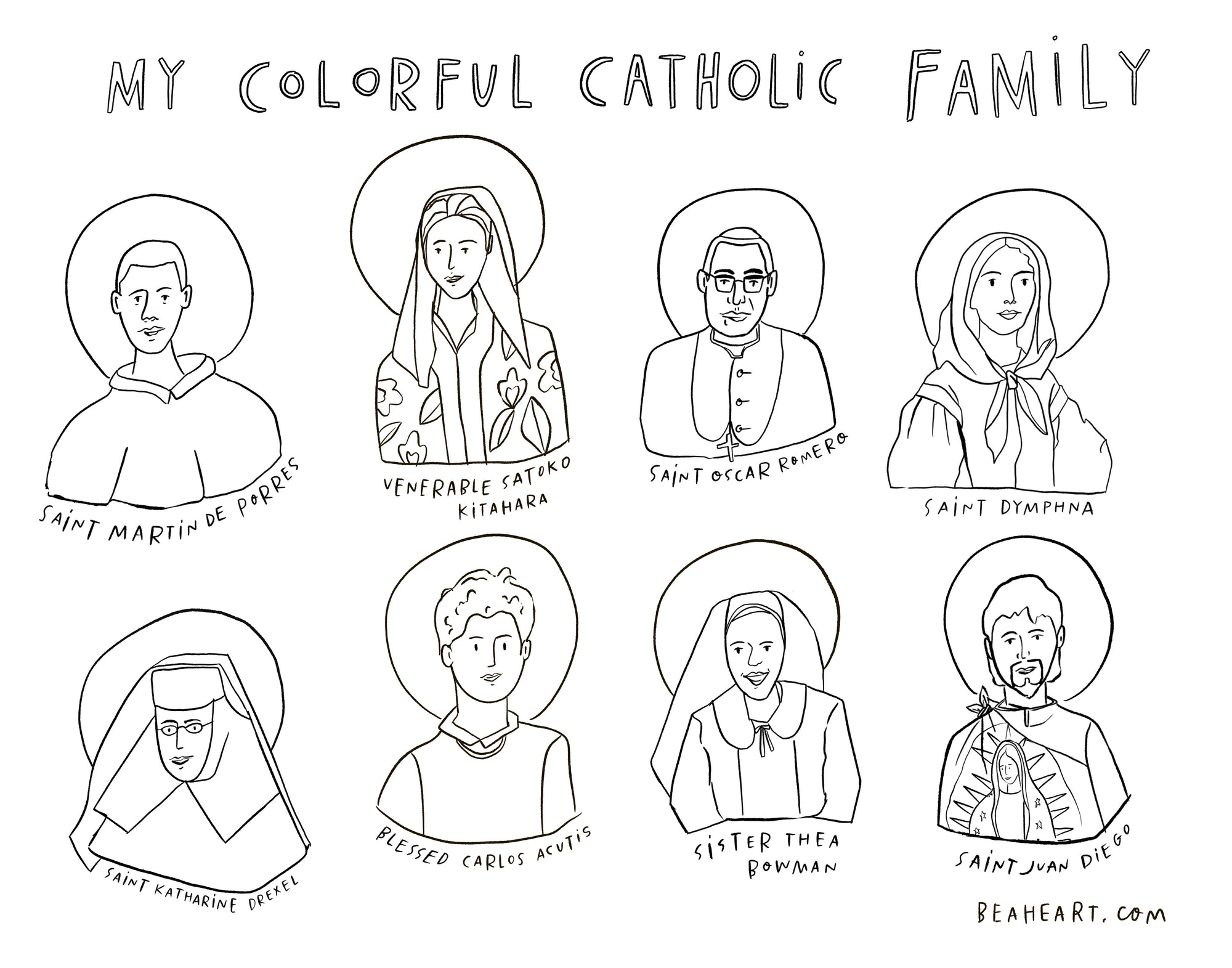 Be A Heart My Colorful Catholic Family Placemat