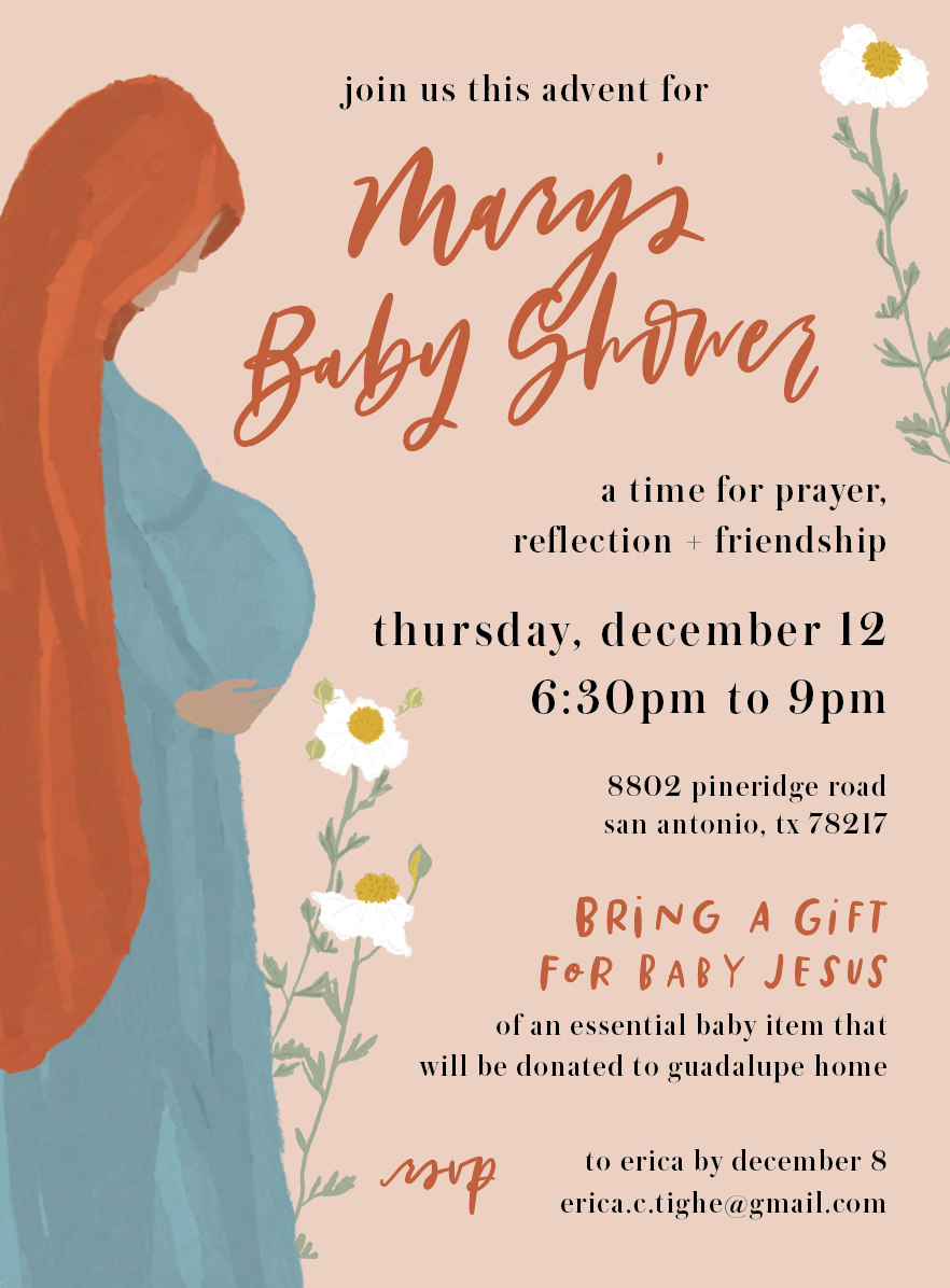 Throw a Baby Shower for Mary