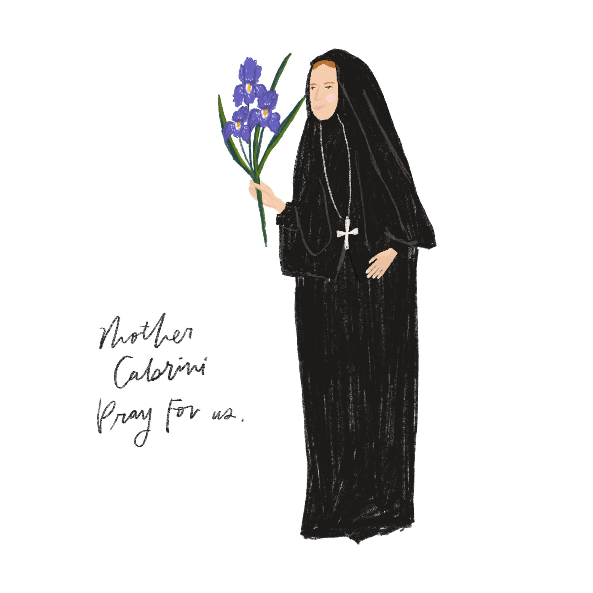 Mother Cabrini + the Irises