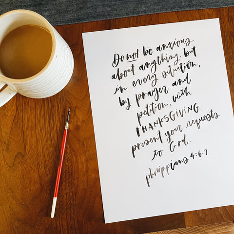 hand lettering bible verse a day