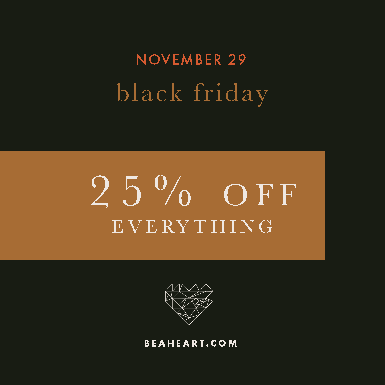 be a heart black friday