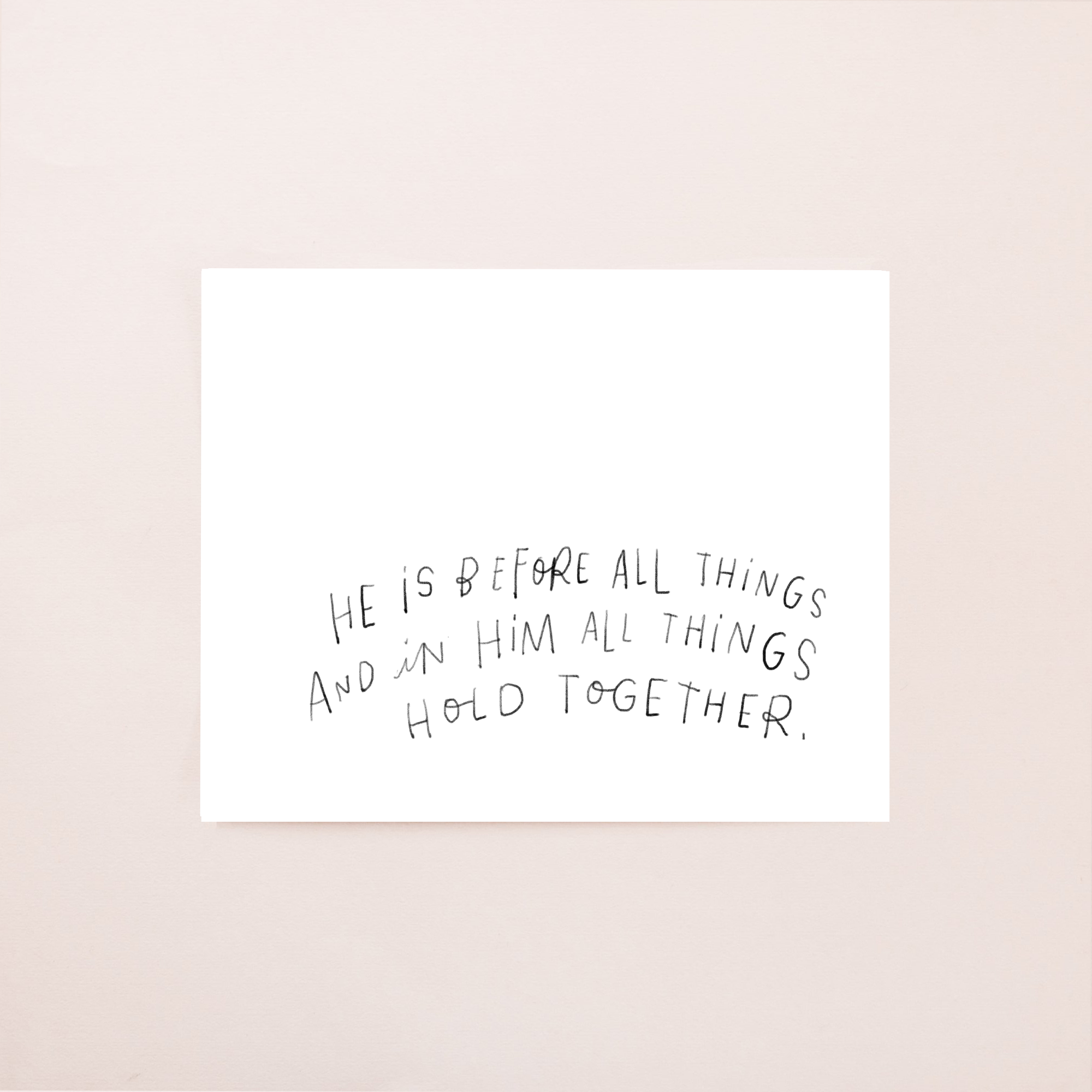 He is Before All Things 8x10 Digital Download