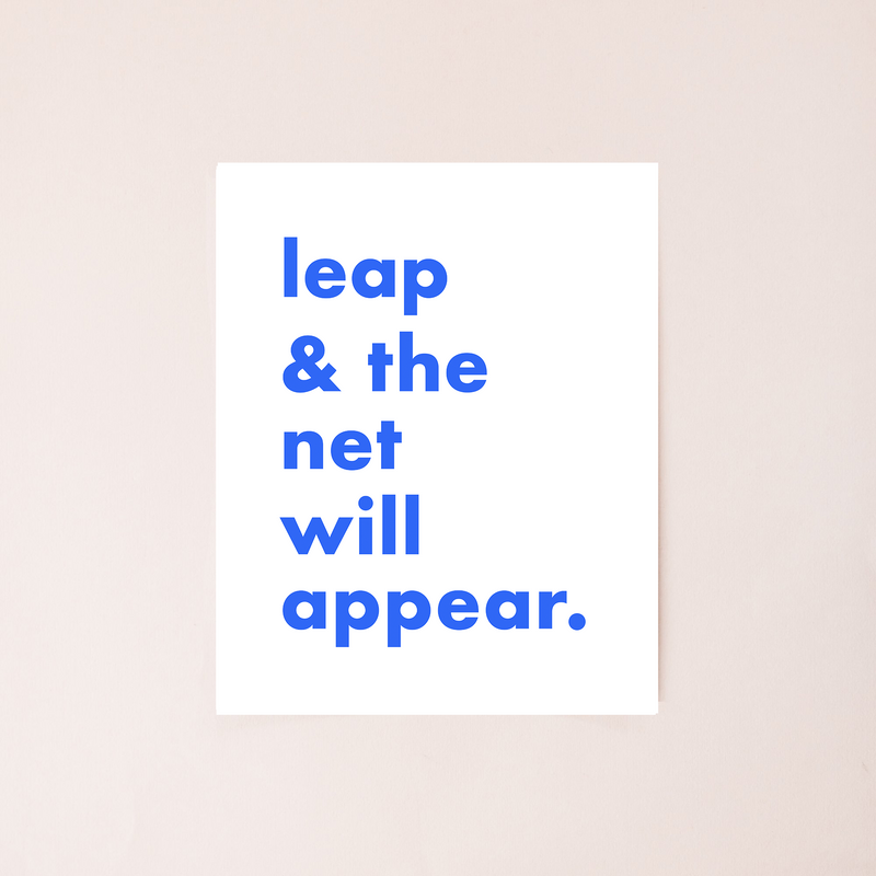 Leap and the Net Will Appear 8x10 Digital Download