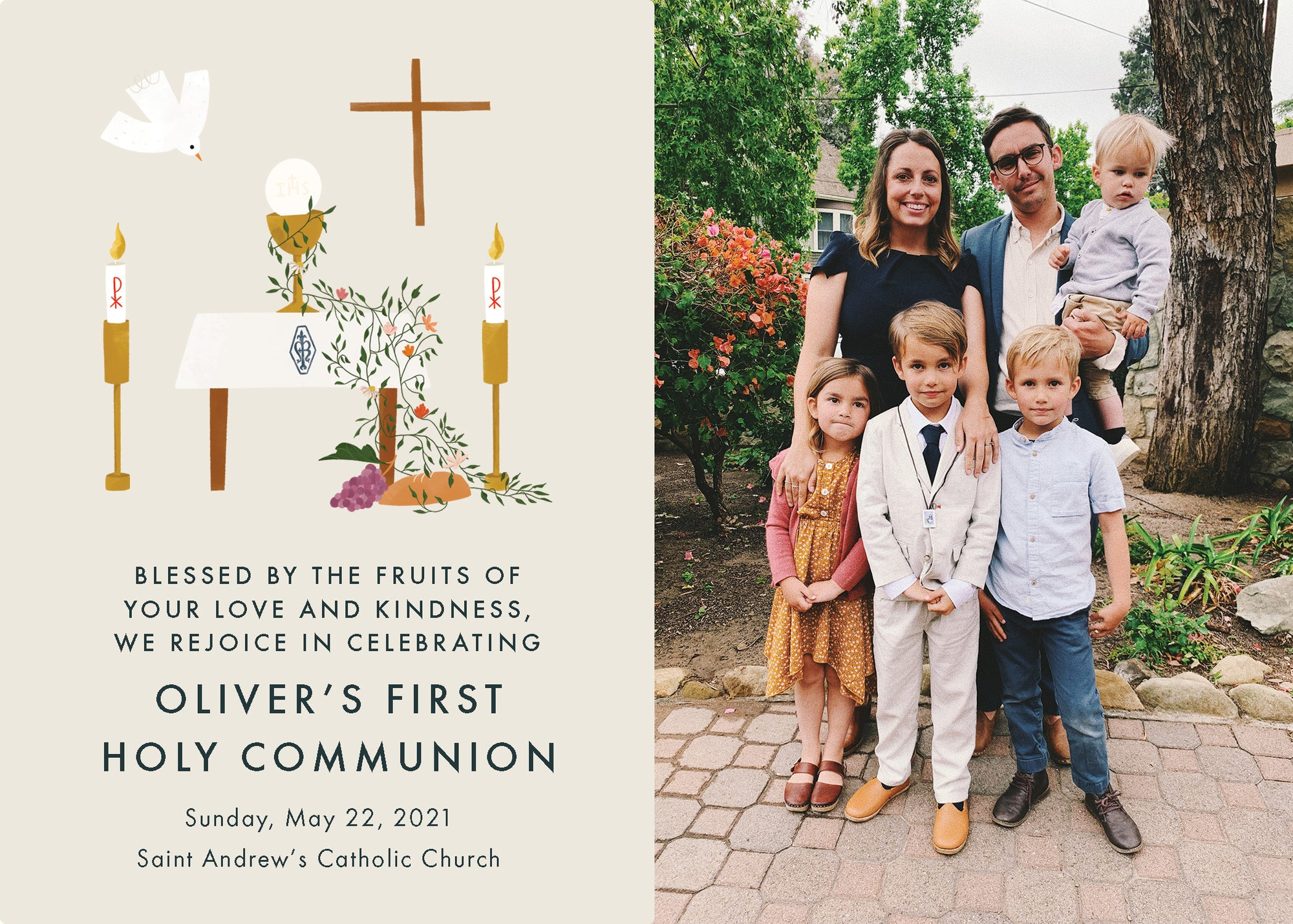 First Communion Announcement Download