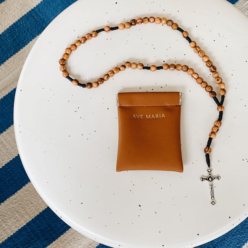 Ave Maria Rosary Pouch