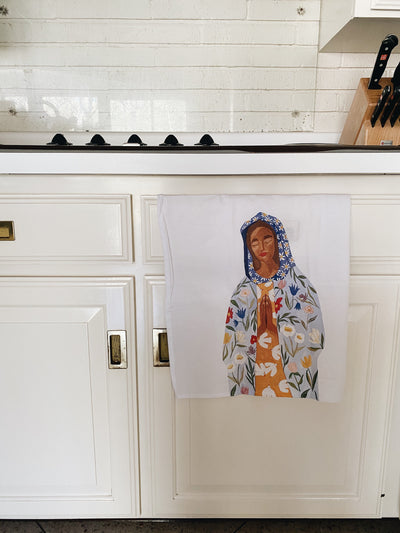 Our Lady of Perpetual Flourishing Tea Towel