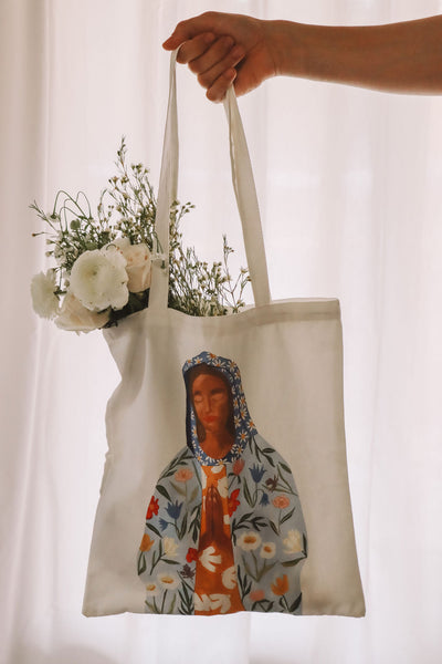 Our Lady of Perpetual Flourishing Tote Bag