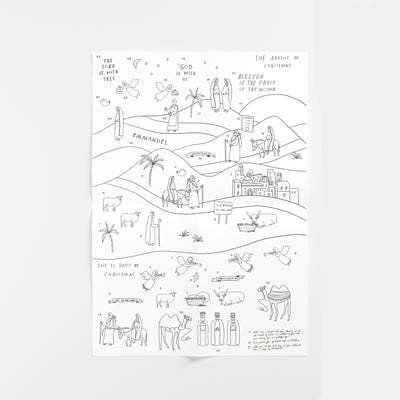 DIGITAL DOWNLOAD Emmanuel Advent Coloring Sheet