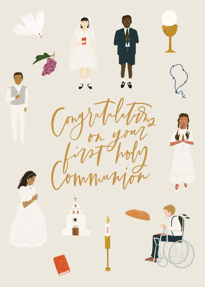 First Communion Card Digital Download