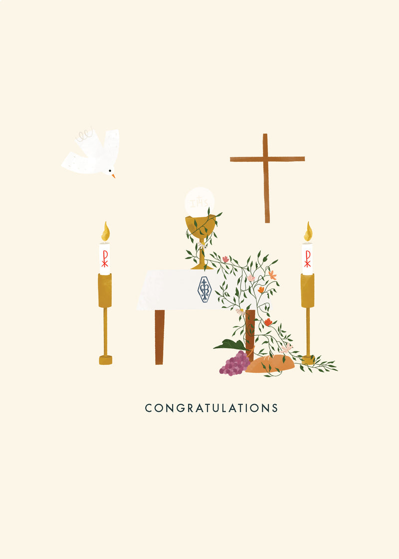 Eucharist Congratulations Card
