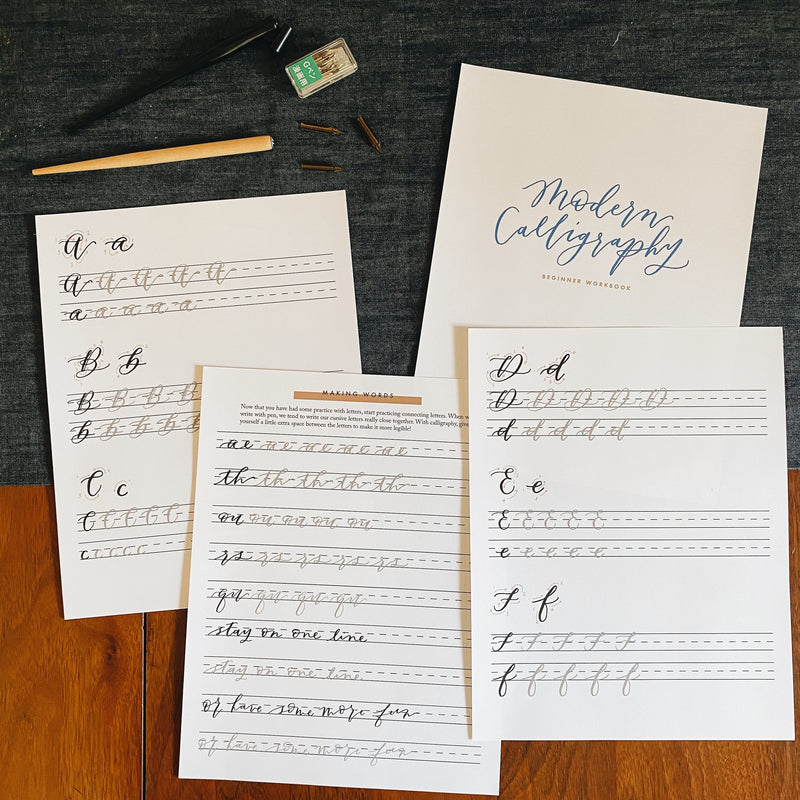 Beginner's Calligraphy Workbook Digital Download