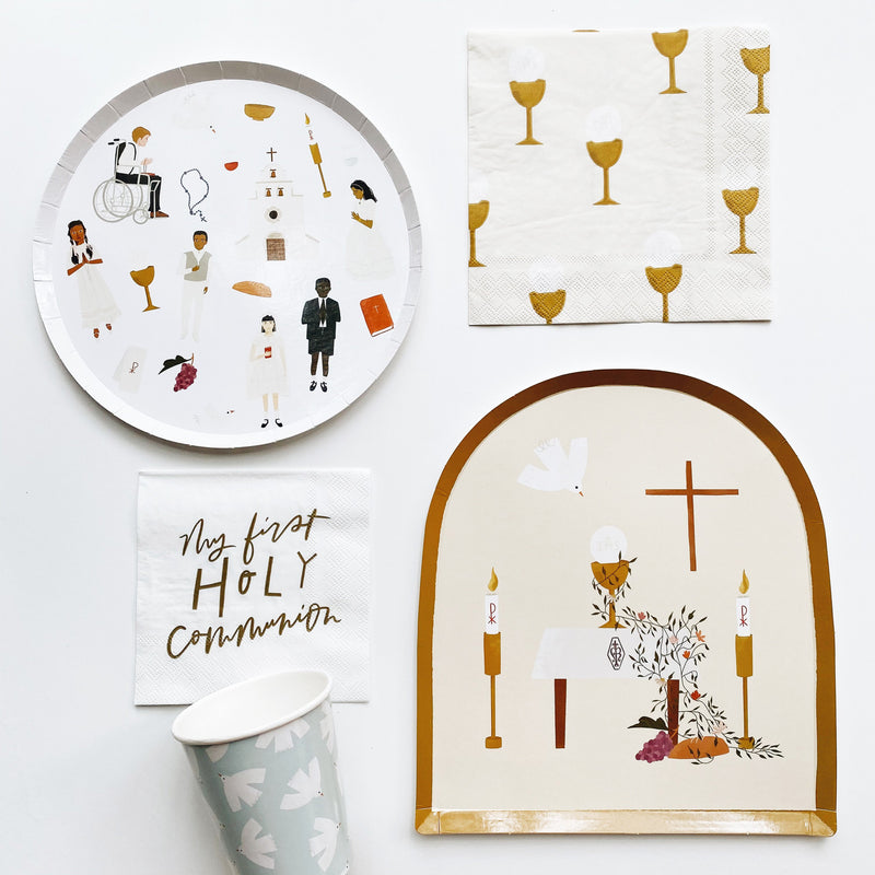 First Communion Dinner Plates