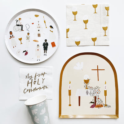 First Communion Cocktail Plates