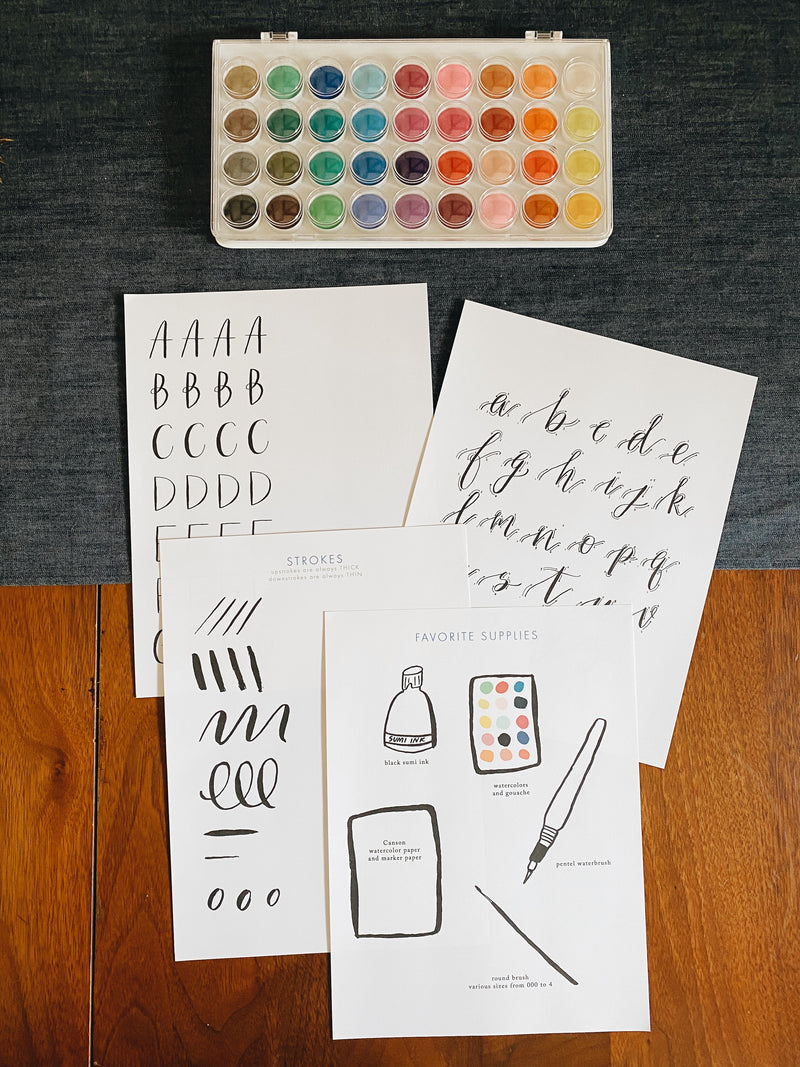 Brush Lettering Workbook Digital Download