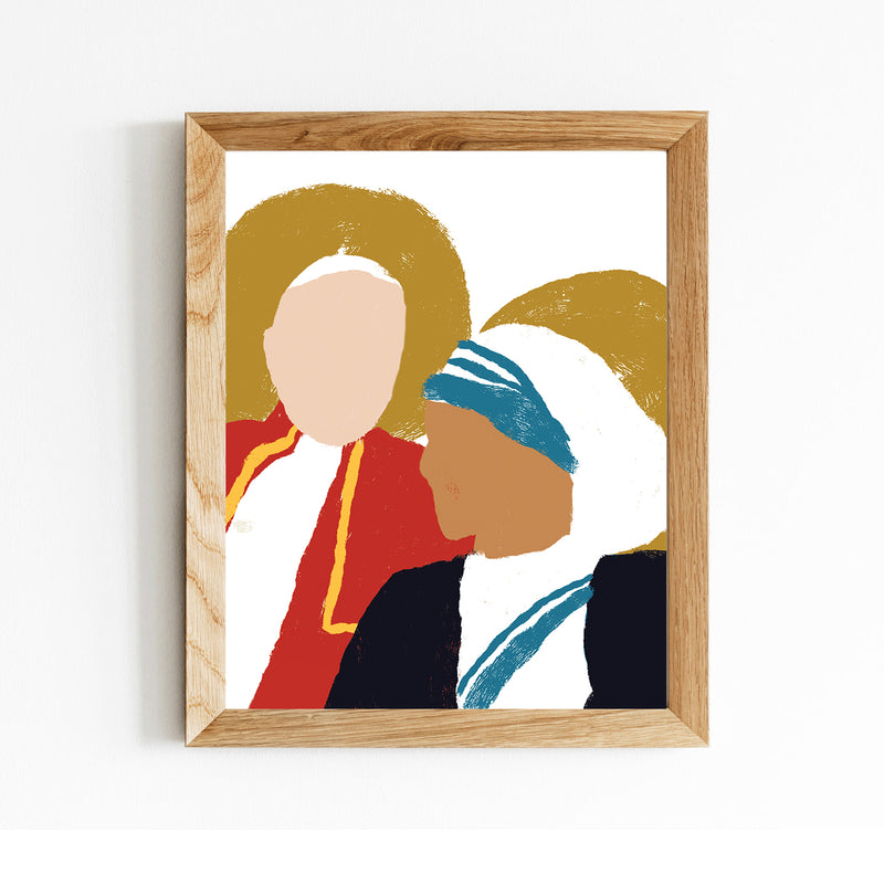 Saint Pope John Paul II & Saint Mother Teresa Friendship 8x10 Digital Download