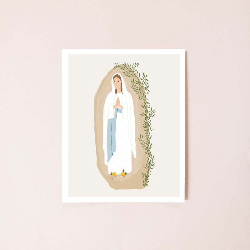 Our Lady of Lourdes 8x10 Print