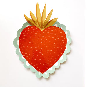 """Sacred Heart and Immaculate Heart Large Paper Plate - 9"""""""