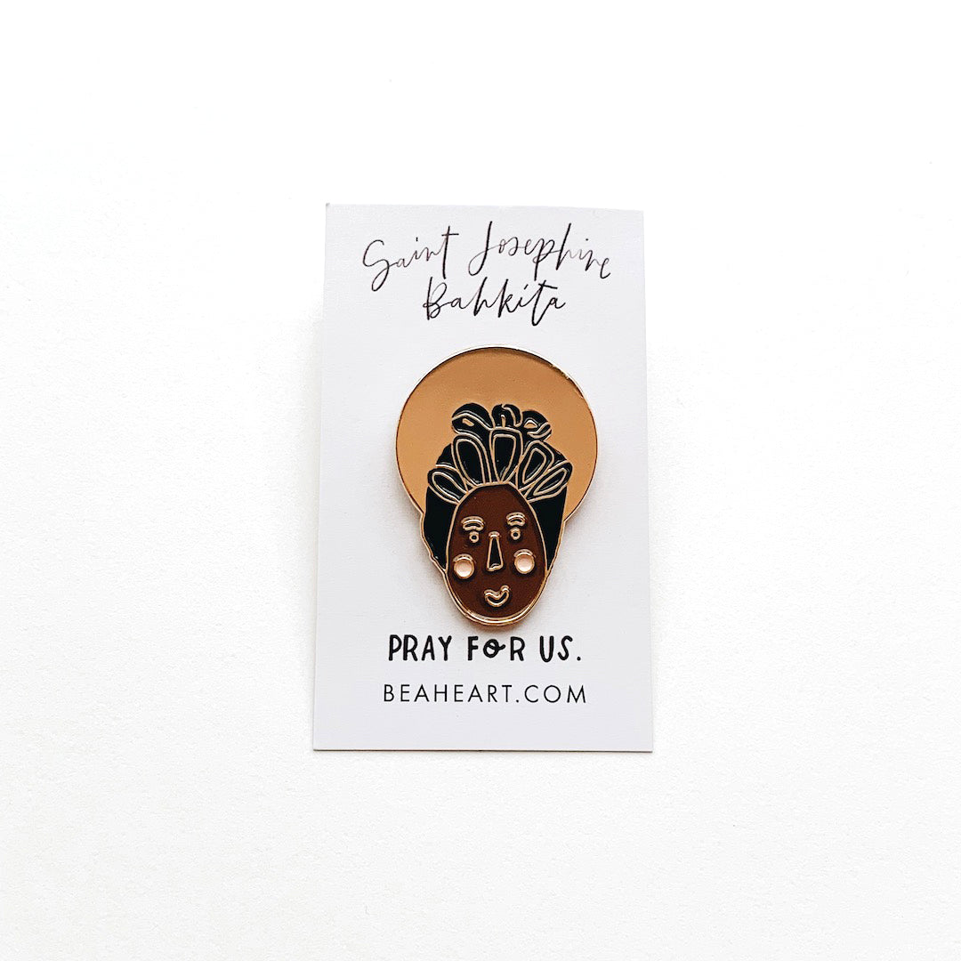 Saint Enamel Pin