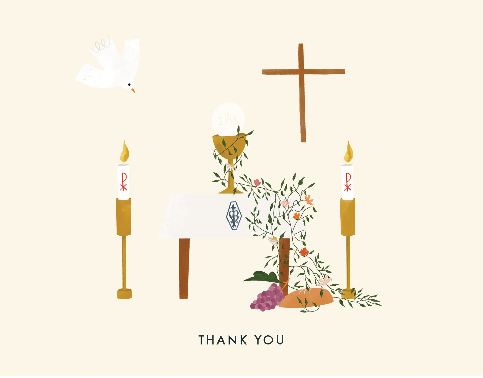 First Communion Thank You Card Digital Download