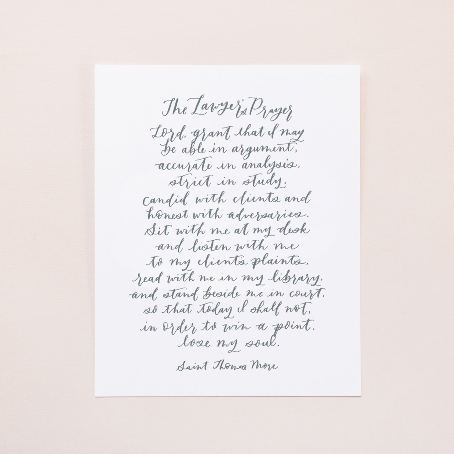 The Lawyers Prayer 8x10 Digital Download