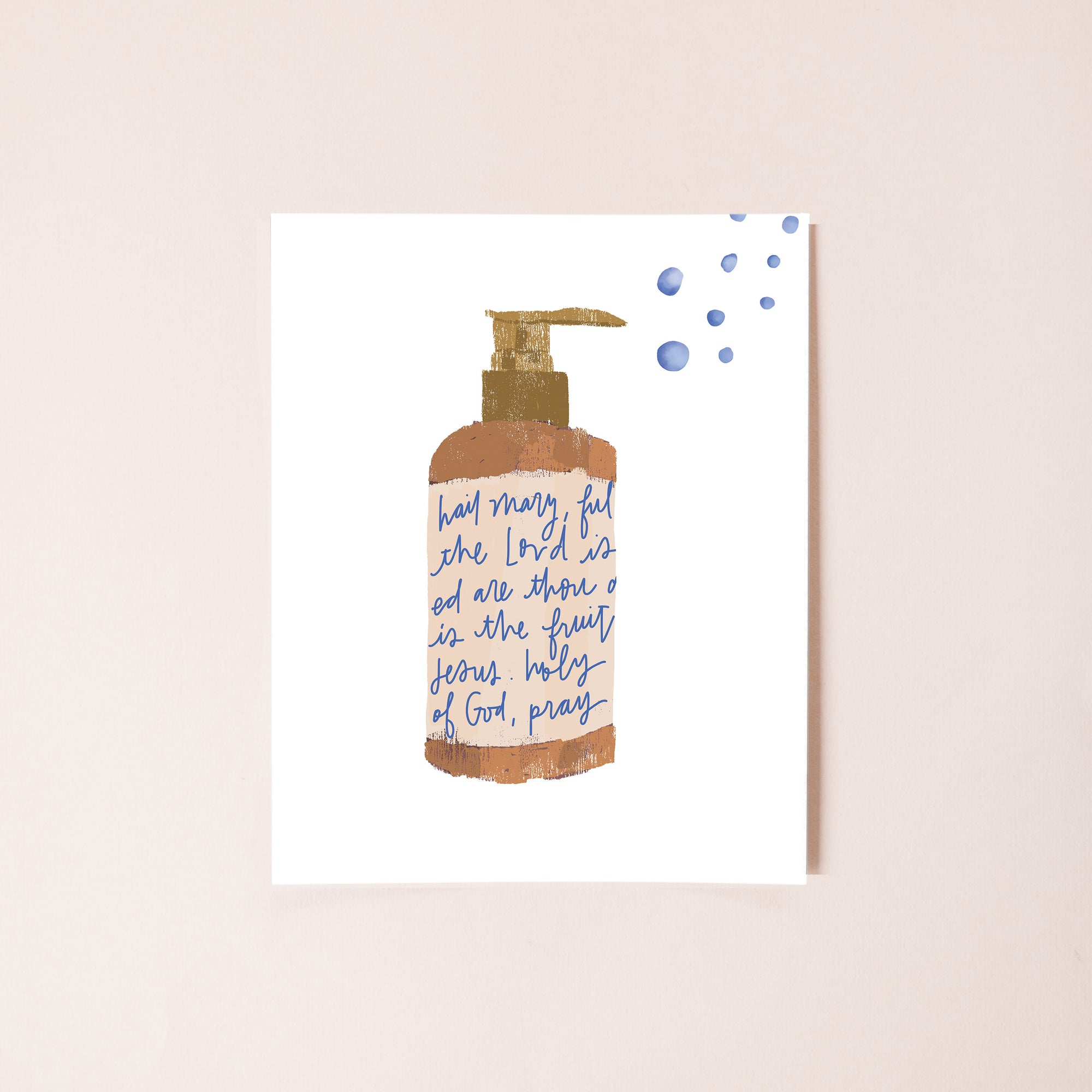 Hail Mary Hand Wash Print - Digital Download
