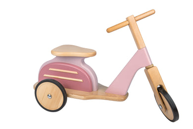 Les Jouets Retro - Pink Wooden Scooter