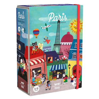 Puzzle - Night and day in Paris reversible puzzle - From Londji in Paris collection - Londji
