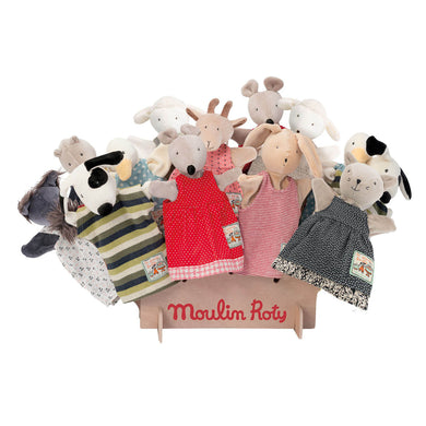 Hand puppet display - Hand puppet display with handpuppets not included - From Moulin Roty's la grande famille collection - Moulin Roty