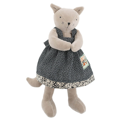Stuffed animal - Little agathe the cat animal - From Moulin Roty's la grande famille collection - Moulin Roty