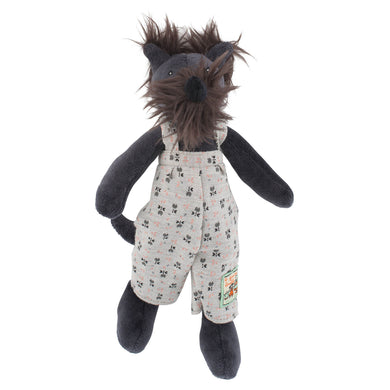 Stuffed animal - Scottish terrier dog - From Moulin roty's la grande famille collection - Moulin roty
