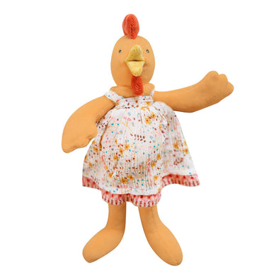 Stuffed animal - Stuffed hen for children - From Moulin roty's la grande famille collection - Moulin Roty