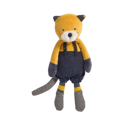 Stuffed animal - Lulu the yellow cat - From Moulin roty's les moustaches collection - Moulin roty