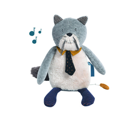 Musical animal - Musical cat - From Moulin roty's les moustaches collection - Moulin Roty