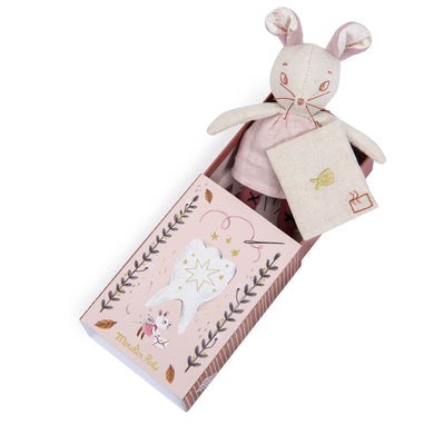 Tooth mouse toy - Milk tooth mouse and its box - From Moulin roty's apres la pluis collection - Moulin Roty