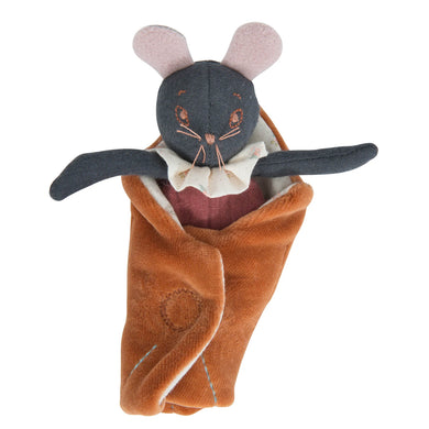 Stuffed animal - Little mouse stuffed animal - From Moulin Roty's apres la pluie collection - Moulin Roty