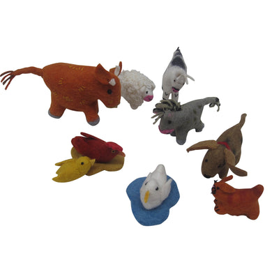 Felt animal toy - Felt Farm Animals - From Papoose's felt animals collection - Papoose