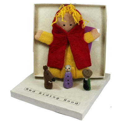 Red Riding Hood Story Puppet, 4pc Boxed Set