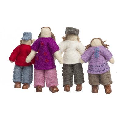 Felt Dolls - Felt Caucasian Family - From Papoose's felt dolls collection - Papoose
