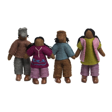 Felt Dolls - Felt African Family - From Papoose's felt dolls collection - Papoose