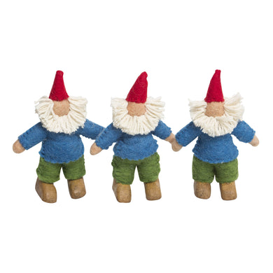 Felt Dolls - Felt Gnomes 3 set - From Papoose's felt dolls collection - Papoose