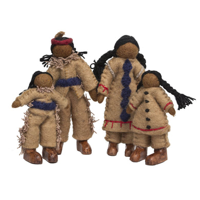 Felt Dolls - Felt Native American Family - From Papoose's felt dolls collection - Papoose