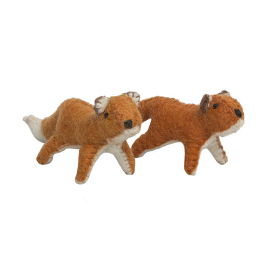 Felt animal toy - Felt Fox - From Papoose's felt animals collection - Papoose
